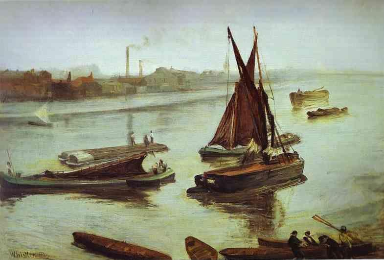 James Abbott McNeill Whistler. Grey and Silver: Old Battersea Beach.