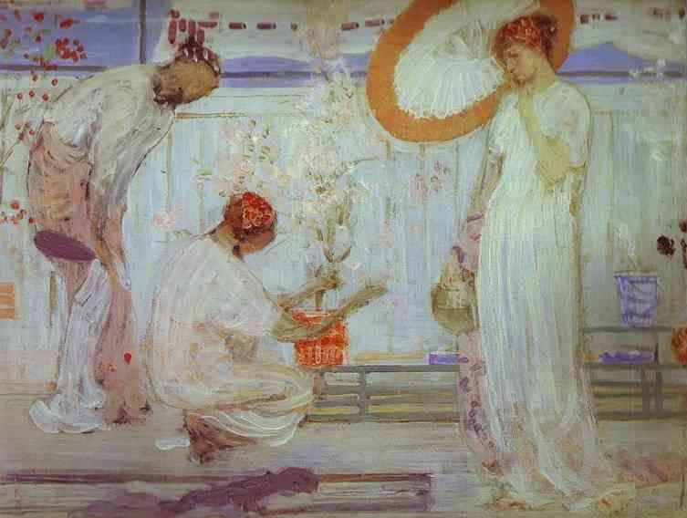 James Abbott McNeill Whistler. The White Symphony: Three Girls.