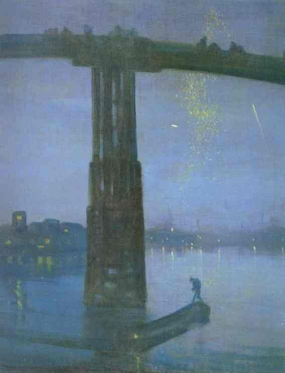 James Abbott McNeill Whistler. Nocturne in Blue and Gold - Old Battersea Bridge.