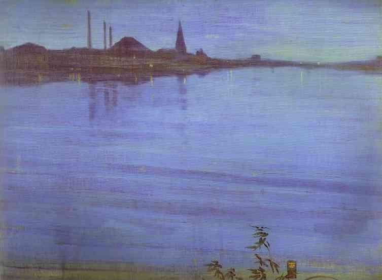 James Abbott McNeill Whistler. Nocturne in Blue and Silver.