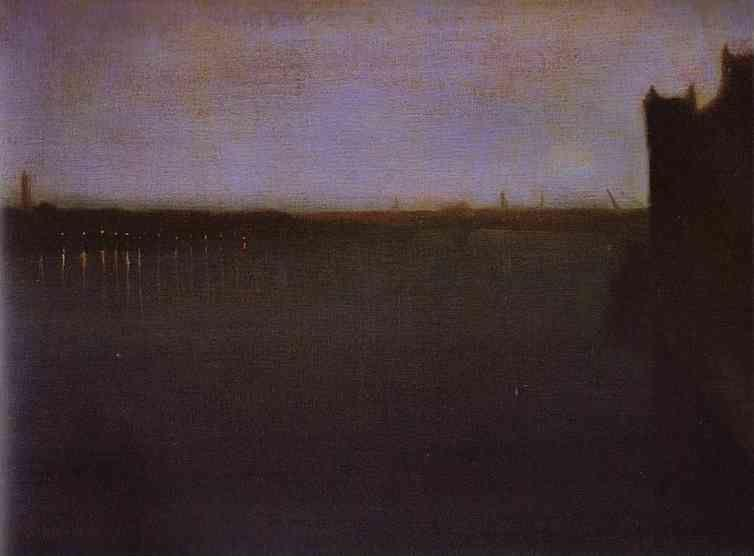 James Abbott McNeill Whistler. Nocturne: Grey and Gold - Westminster Bridge.