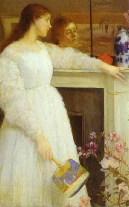 James Abbott McNeill Whistler. Symphony in White No 2: The Little White Girl.