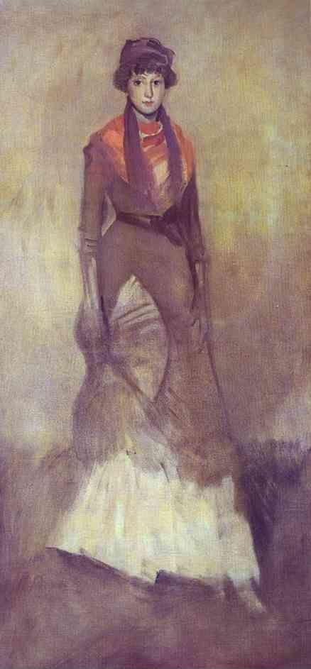 James Abbott McNeill Whistler. Harmony in Fawn Color and Purple: Portrait of Miss Milly Finch.