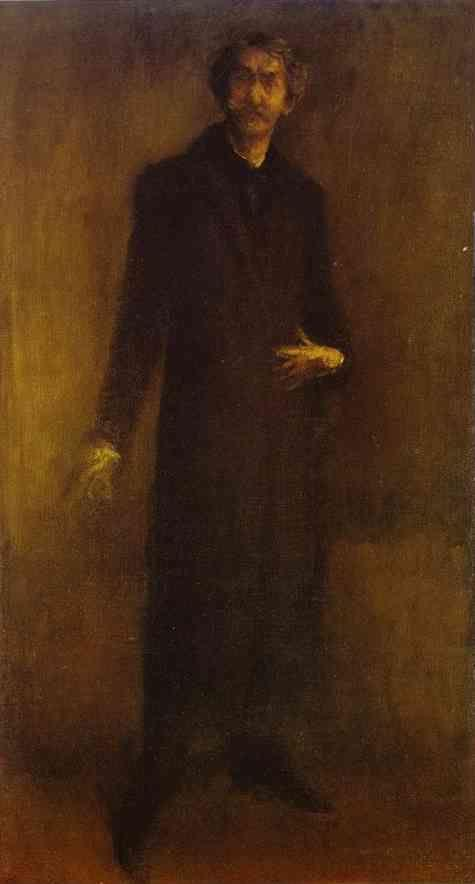 James Abbott McNeill Whistler. Brown and Gold (Self-Portrait).