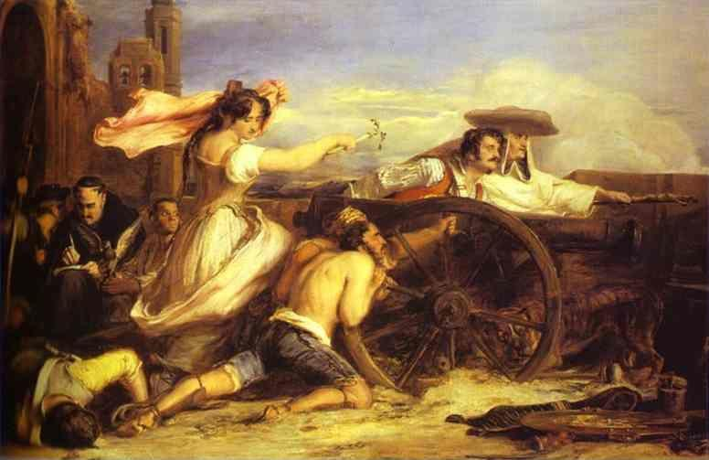 Sir David Wilkie. The Defence of Saragossa.