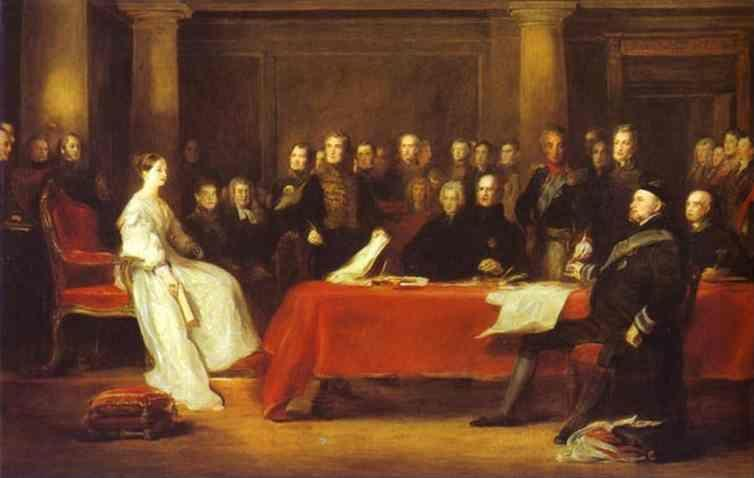 Sir David Wilkie. The First Council of Queen Victoria.