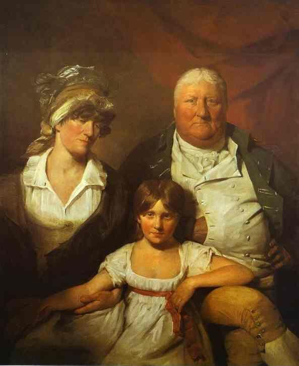 Sir David Wilkie. William Chalmers-Bethune, His Wife Isabella Morison and their Daughter Isabella.