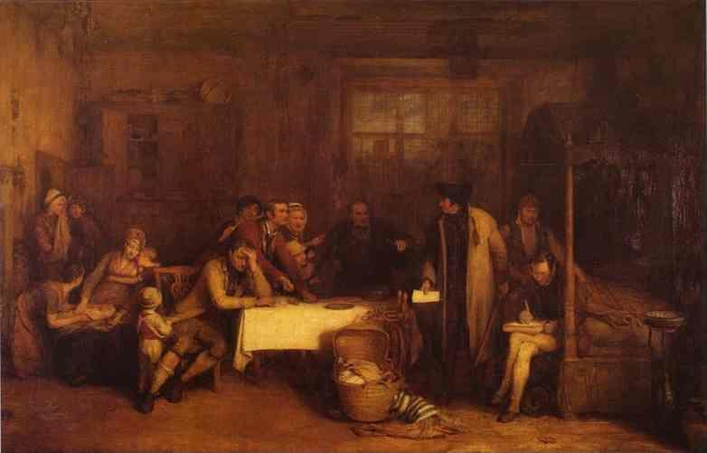 Sir David Wilkie. Distraining for Rent.