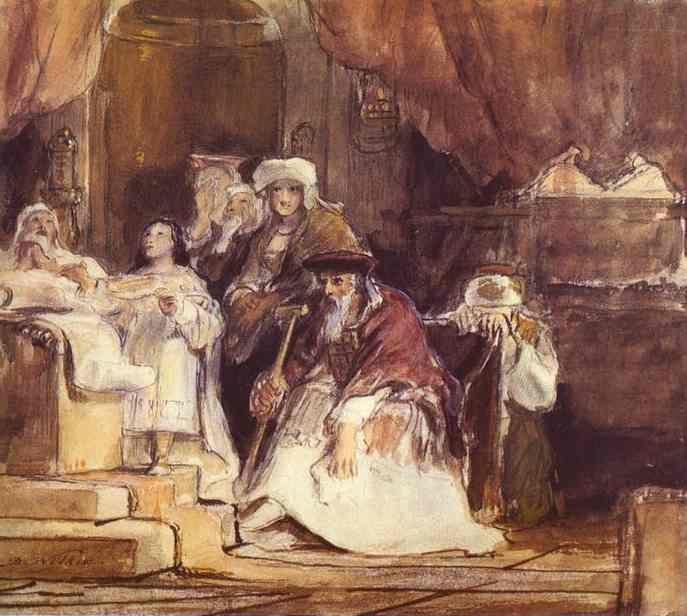 Sir David Wilkie. Samuel in the Temple.