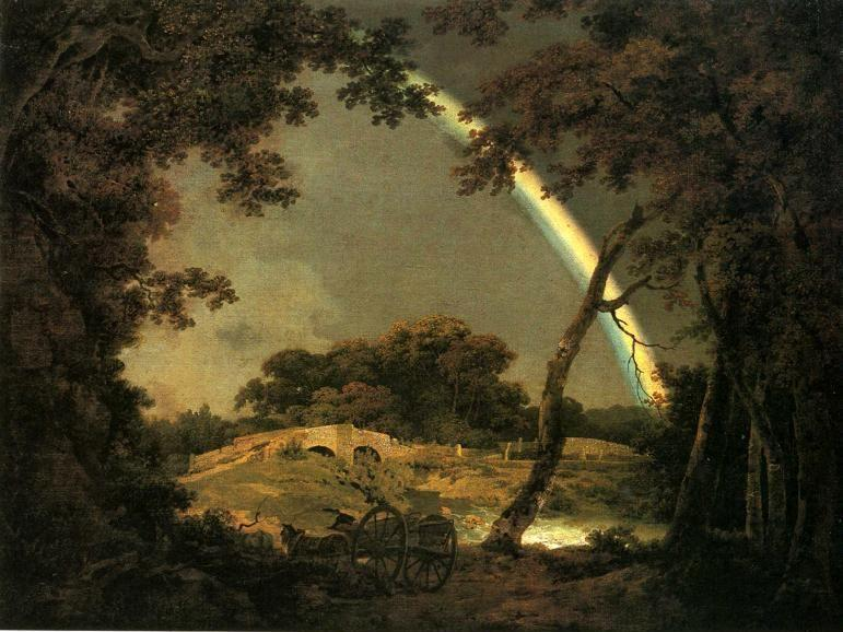 Joseph Wright of Derby. Landscape with a Rainbow.