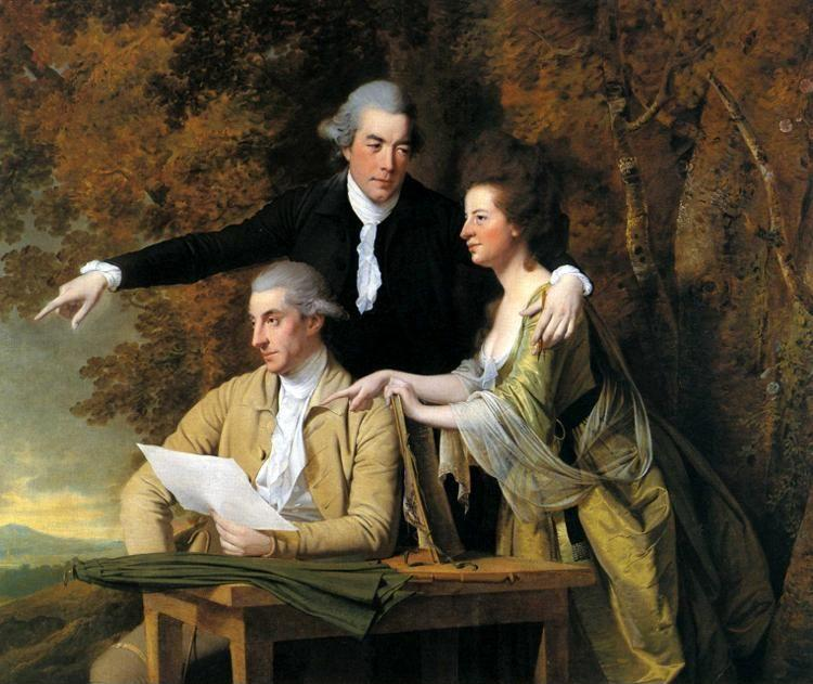 Joseph Wright of Derby. The Rev. D'Ewes Coke, His Wife Hannah and Daniel Parker Coke.