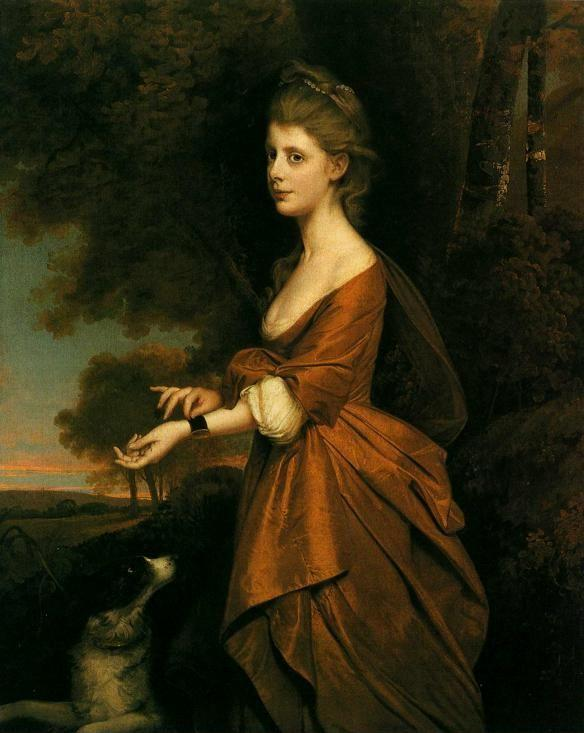 Joseph Wright of Derby. Portrait of a Girl in a Tawny-Colored Dress.