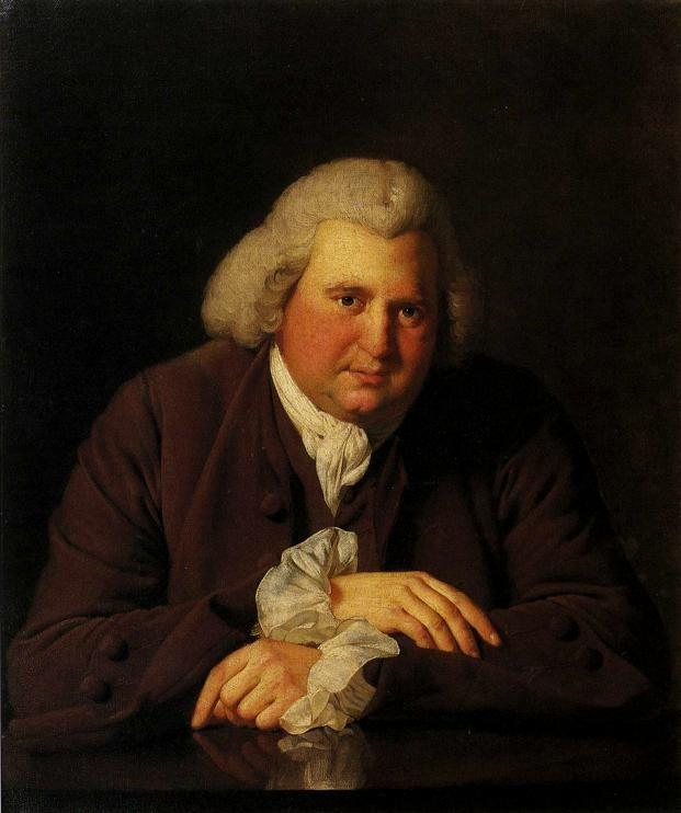 Joseph Wright of Derby. Erasmus Darwin.