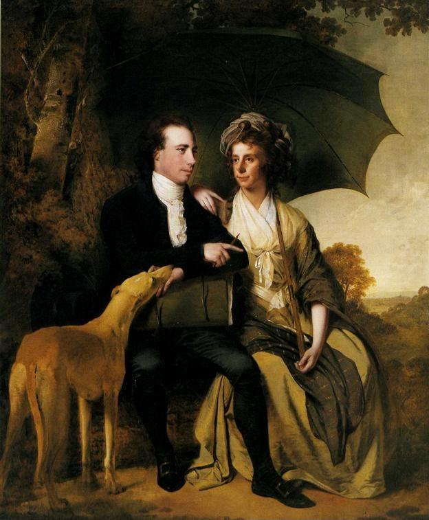 Joseph Wright of Derby. Rev. Thomas Gisborne and His Wife Mary.