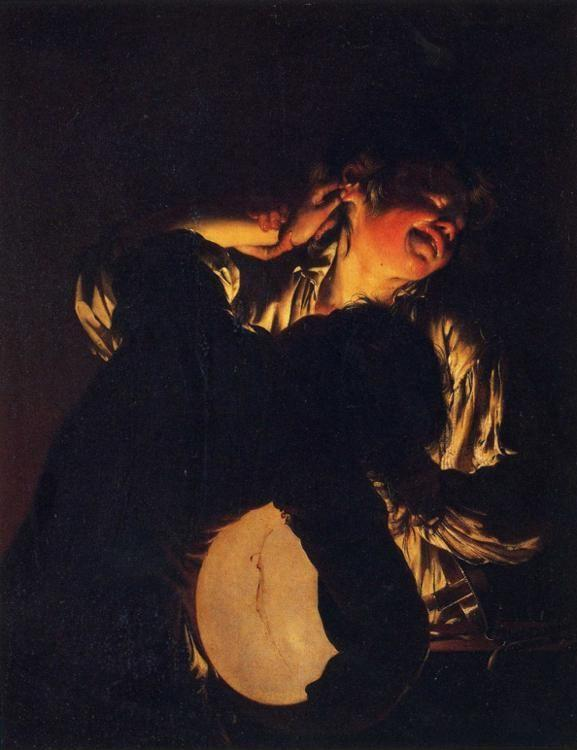 Joseph Wright of Derby. Two Boys Fighting over a Bladder.