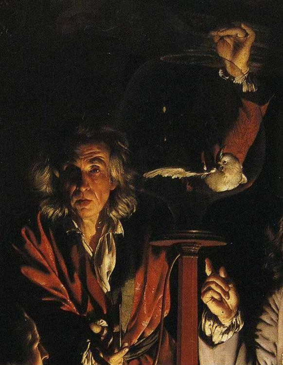Joseph Wright of Derby. An Experiment on a Bird in the Air Pump. Detail.