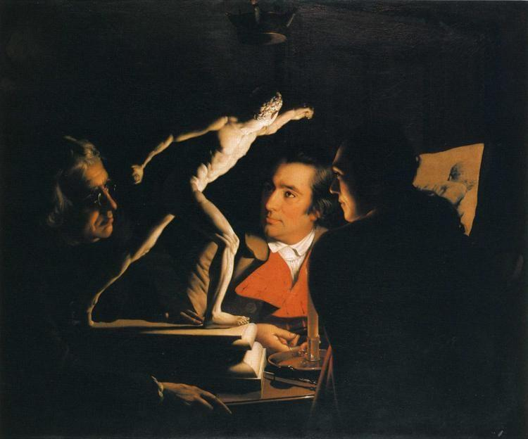 Joseph Wright of Derby. Three Persons Viewing the Gladiator by Candlelight.