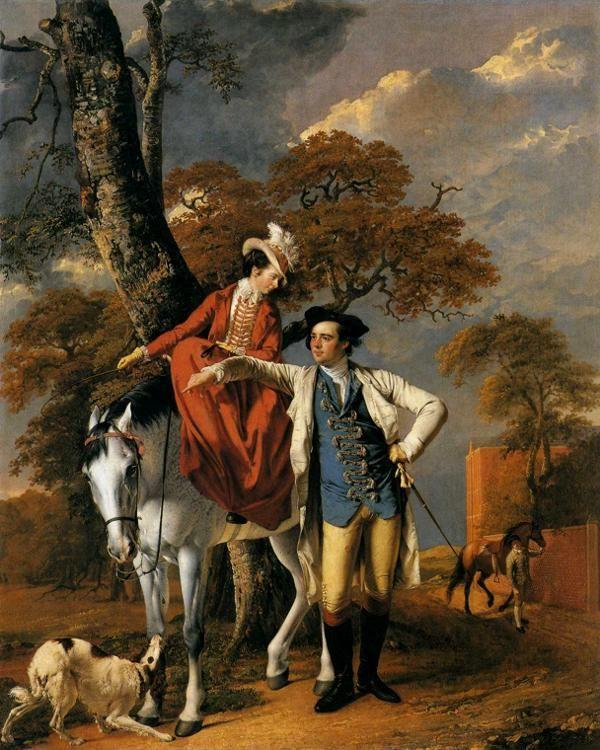 Joseph Wright of Derby. Mr and Mrs Coltman.