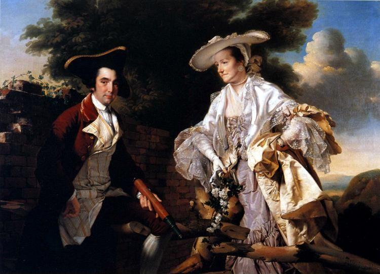 Joseph Wright of Derby. Peter Perez Burdett and His First Wife Hannah.