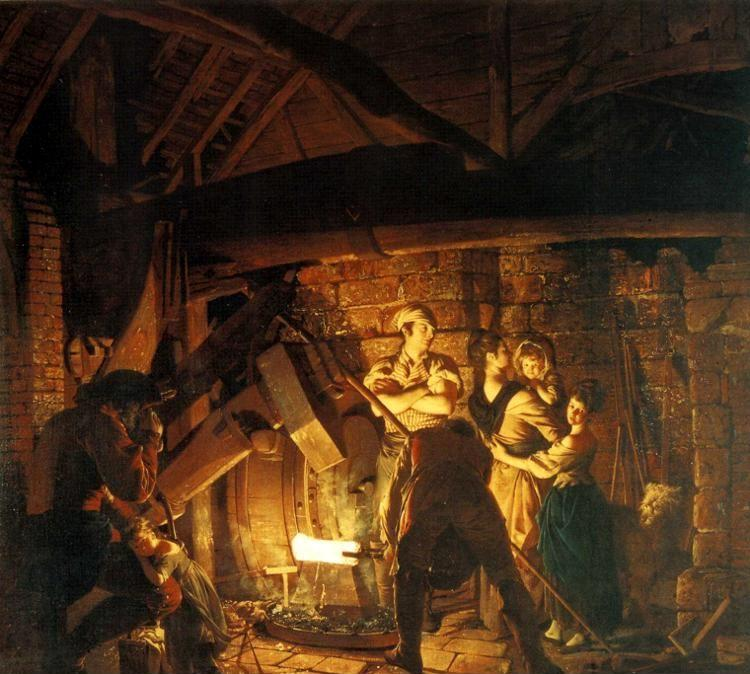 Joseph Wright of Derby. An Iron Forge.