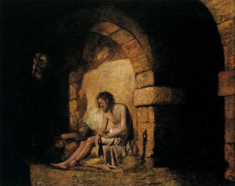 Joseph Wright of Derby. The Captive, from Sterne.