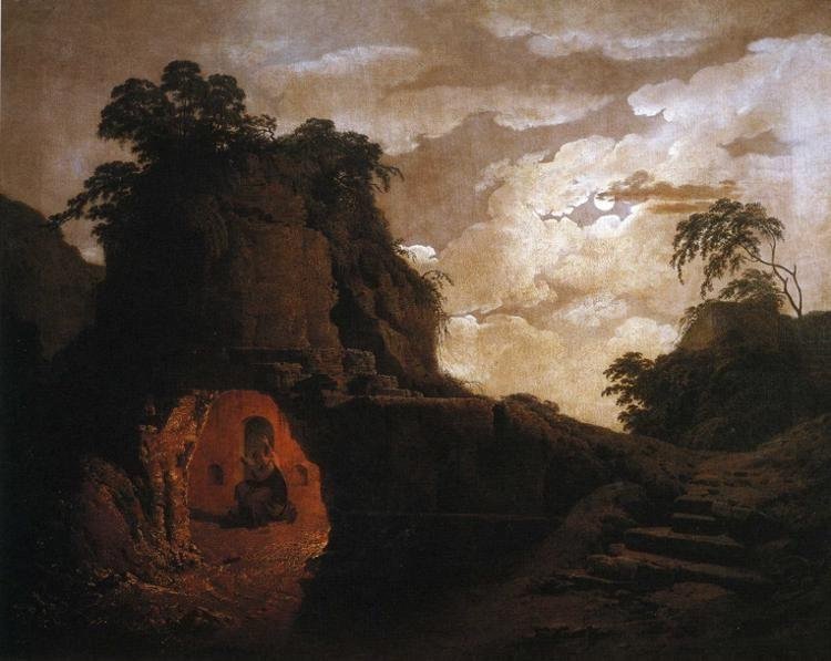 Joseph Wright of Derby. Virgil's Tomb, with the Figure of Silius Italicus.