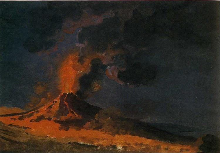 Joseph Wright of Derby. Vesuvius in Eruption.