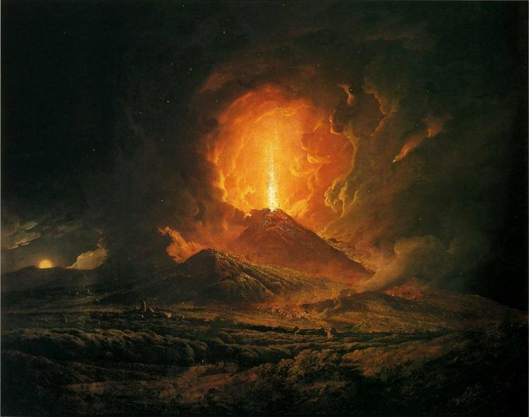Joseph Wright of Derby. An Eruption of Vesuvius, Seen from Portici.