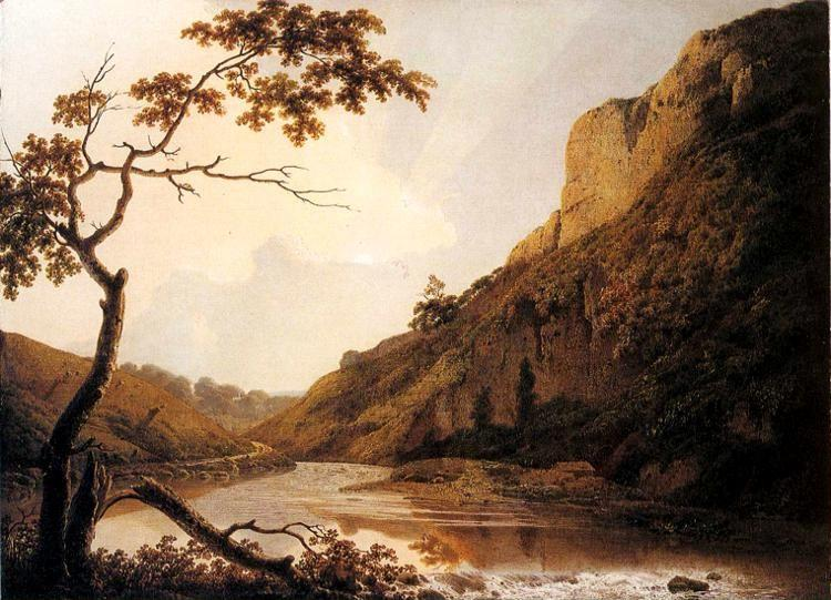 Joseph Wright of Derby. Matlock Tor by Daylight.