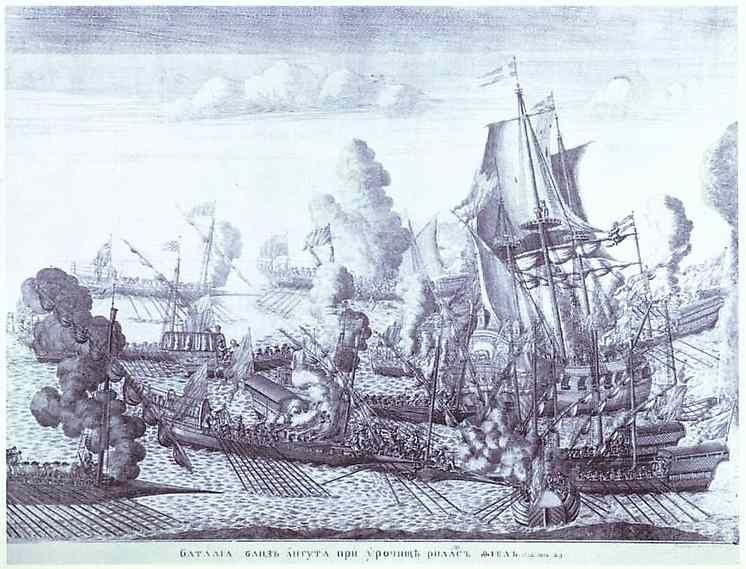 Alexey Zubov. Battle of Gangut, June 27, 1714.