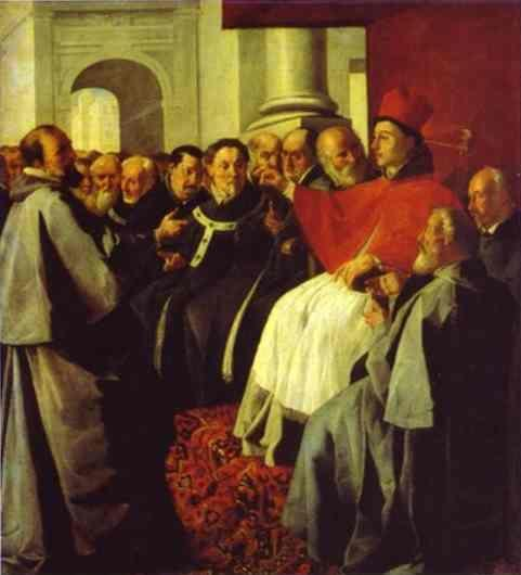 Francisco de Zurbarán. St. Bonaventura at the Council of Lyons.