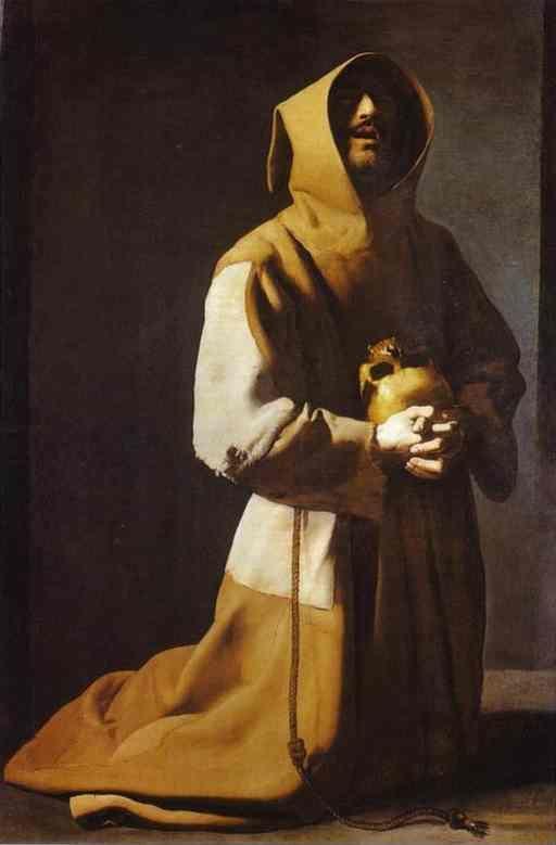 Francisco de Zurbarán. St. Francis Kneeling.