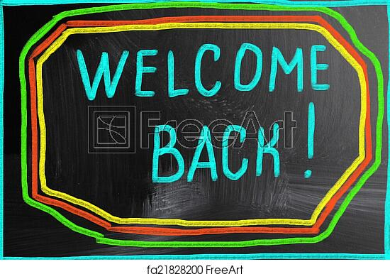 welcome back sign to print